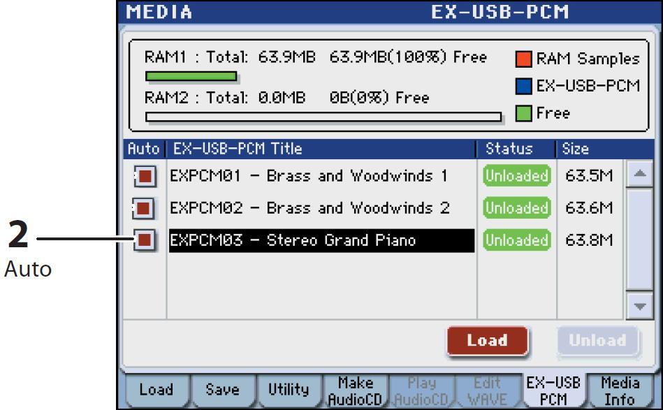 Korg M3: Loading new EXB PCM sample files - Karma-Lab